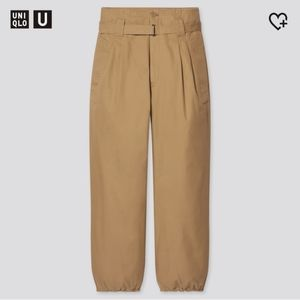 Uniqlo U Cotton Twill Belted Pants